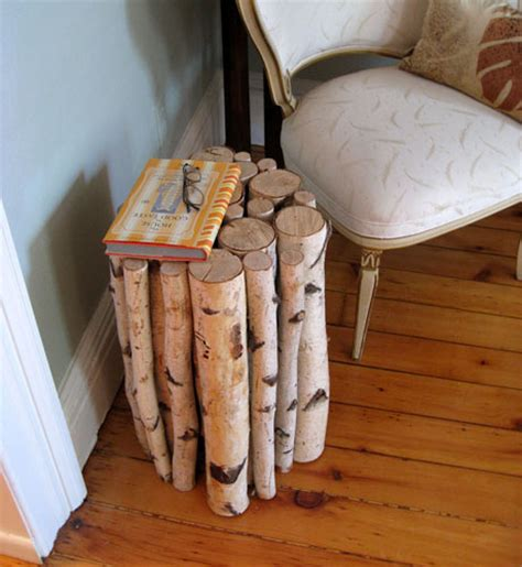 birch log table how to build a birch log table make