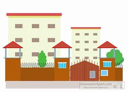 Building Clipart Prison Architecture Medical Buildings Clip