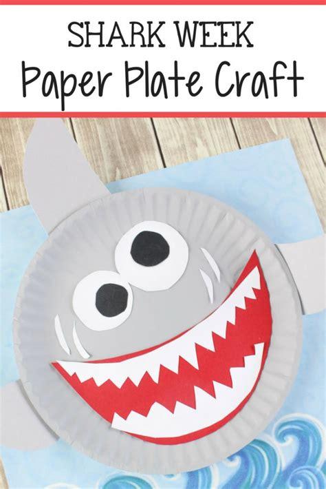 shark paper plate craft  kids paper plate crafts