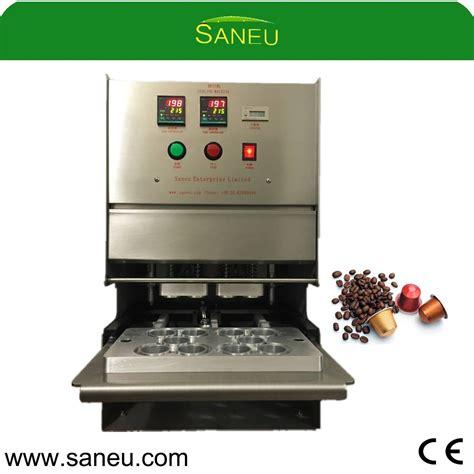 china aluminum nespresso compatible coffee capsule heat sealing machine china coffee capsule
