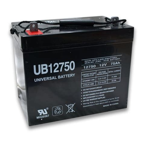 battery agm universal 75 12v batteries ah power sealed ups cycle deep volt low telecom close