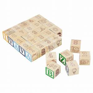 kids educational wooden cubes numbers letters toy game With wooden letter cubes