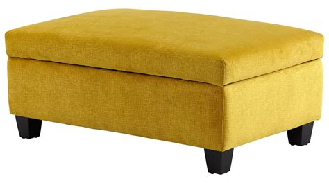 yellow storage ottoman aldous yellow ottoman from cyan design coleman furniture