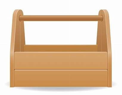 Tool Box Wooden Vector Illustration Clipart Clip