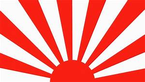 Traditional Japanese Spinning Sunburst Red And White ...