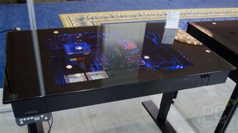 lian li dk 03 aluminum computer desk dk 04 pc perspective