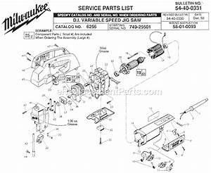 Milwaukee 6256 Parts List And Diagram