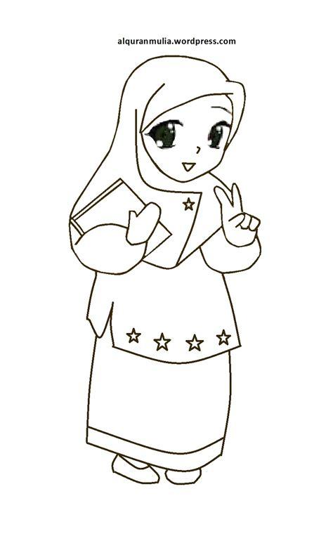 mewarnai anak islami keluarga muslim cara menggambar dan