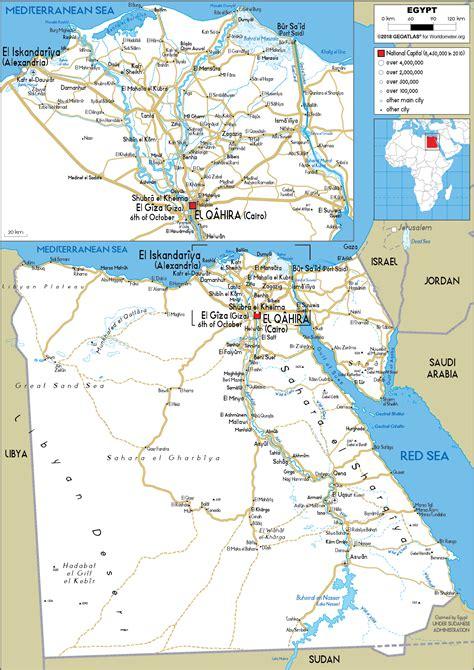 Egypt Map Road Worldometer