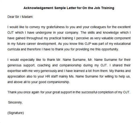 38 acknowledgement letter templates pdf doc free premium templates
