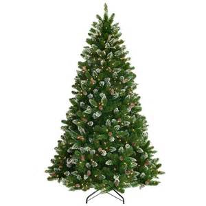 national tree company 7 5 ft crystal spruce hinged artificial christmas tree with glittered