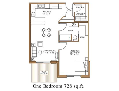 1 Bedroom Unit Layout by Floor Plan At Northview Apartment Homes In Detroit Lakes