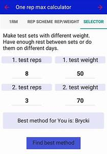 Smart 1rm Calculator For Android