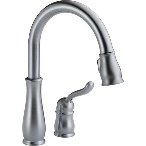 installing delta kitchen faucet delta leland single handle pull sprayer kitchen