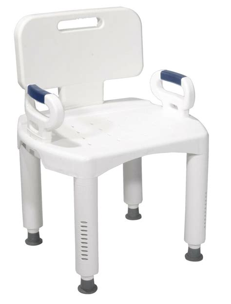 shower chair drive premium bath bench with back arms rtl12505