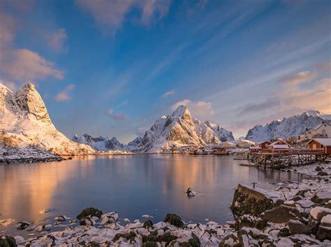 Landscape Water House Lofoten,morning,moskenesoya Hd ...