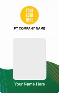 id card simple company desain id card kemasaja