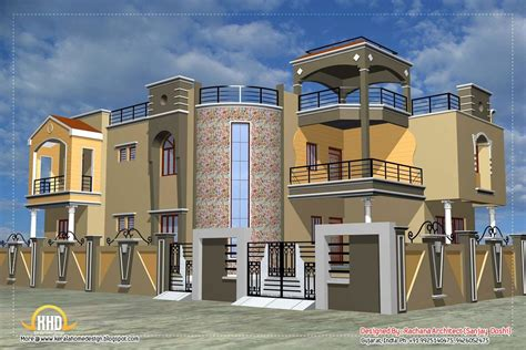 Excellent House Plan With Luxury Indian Home Exterior