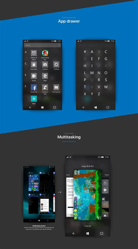 windows 10 mobile with fluent design looks to be true