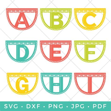 papel picado letter banner  fontsy