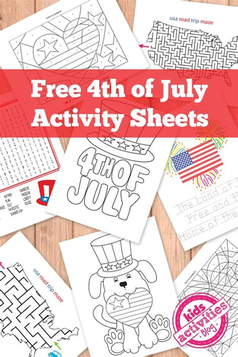 free 4th of july activity printables
