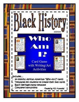 black history    card game  writing art