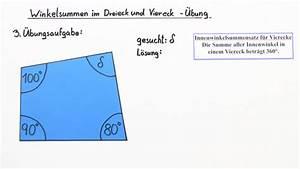Innenwinkel Dreieck Berechnen : winkelsummen in vierecken mathematik online lernen ~ Themetempest.com Abrechnung