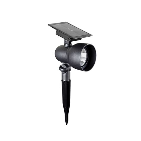 solar spot lights lowes shop portfolio 36x textured black solar led landscape