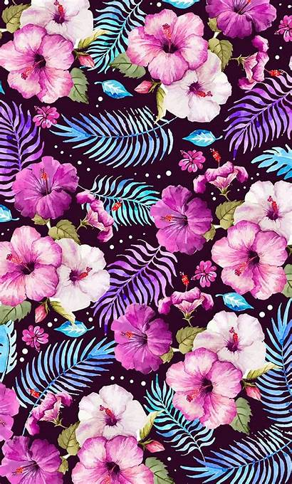 Vivid Bright Leaves Pattern Artwork Flowers Picstatio