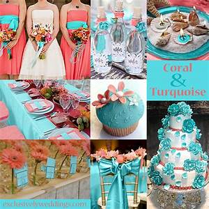 Turquoise wedding color seven perfect combinations for Coral and turquoise wedding ideas