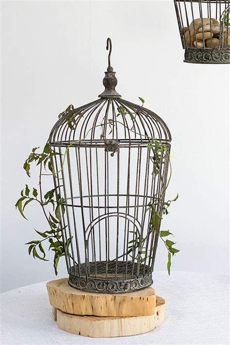 a wood wedding place card holder for a rustic distressed wire birdcage pompeii 21in