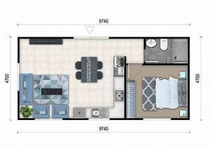 1 bedroom granny flat designs 1 bedroom granny flat for Plan of 1bed room flat