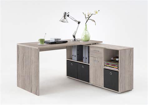 bureau d angle avec surmeuble bureau d 39 angle réversible contemporain coloris chêne