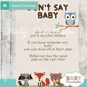 Woodland Baby Shower Games Bundle – D137