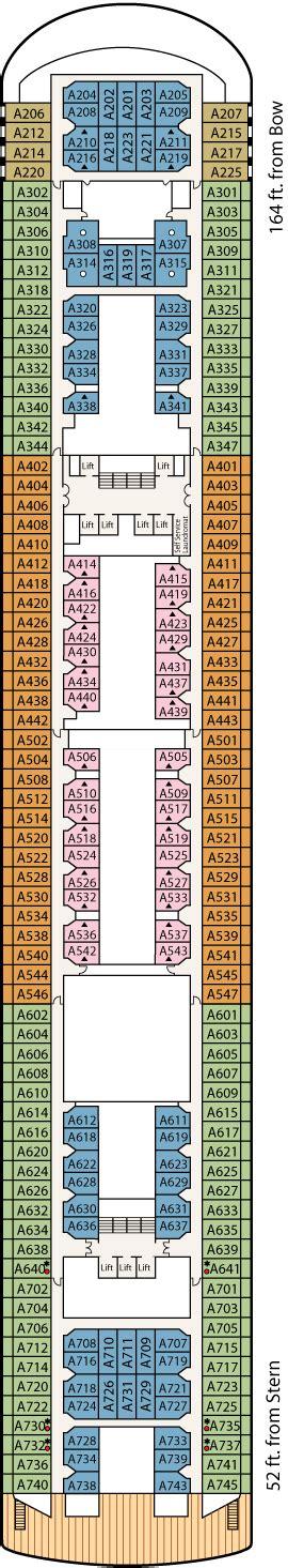 Princess Aloha Deck Plan by Princess Sun Princess Cruise Review For Cabin A342