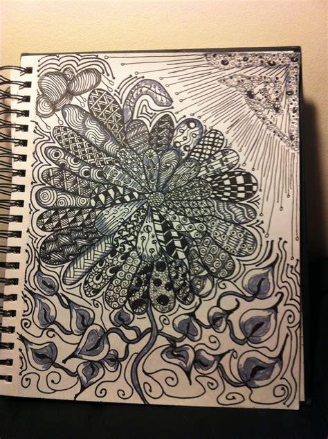sun and flower | Zentangle art, Art journal, Mandala art