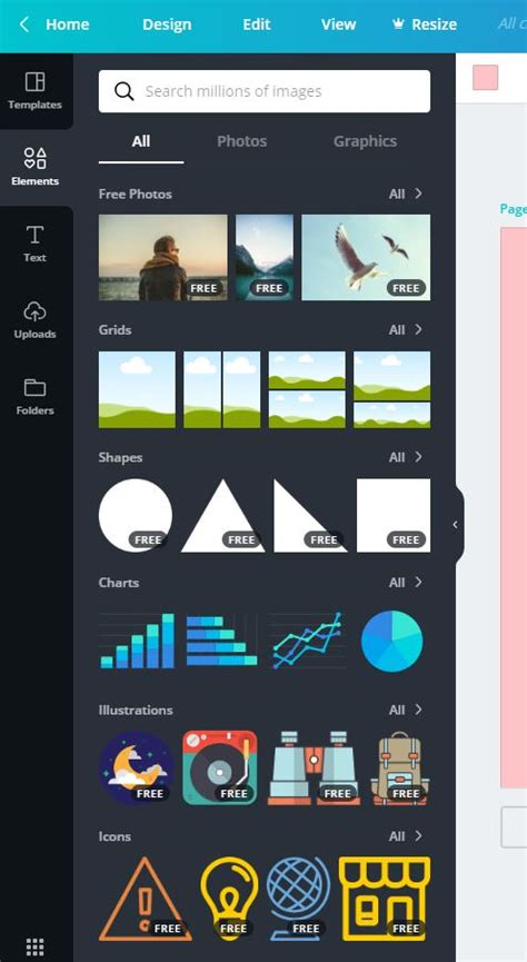 canva elements graphic text