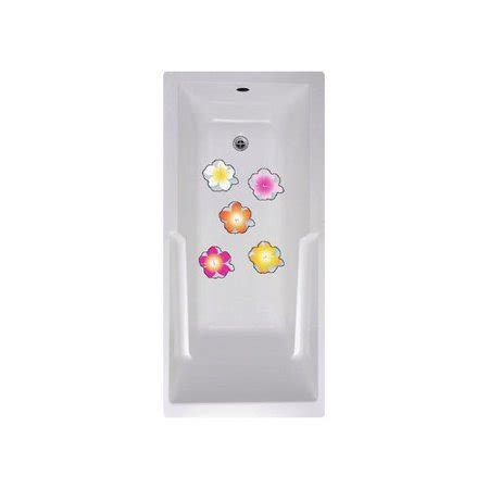 No Slip Mat by Versatraction Flowers Bath Tub and Shower Treads (Set of 5) Walmart.com