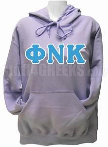 phi nu kappa greek letter pullover hoodie sweatshirt lavender With fraternity letters sweatshirts