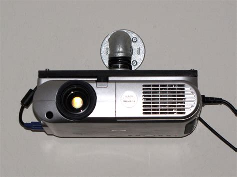 homemade toshiba tlp  video projector wall mount