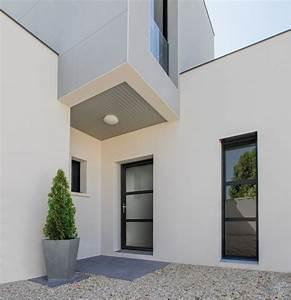 porte d39entree aluminium grand vitrage alya http www With porte de garage et belles portes intérieures