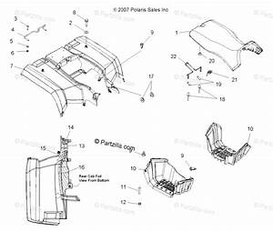 Polaris Atv 2010 Oem Parts Diagram For Body  Rear Cab