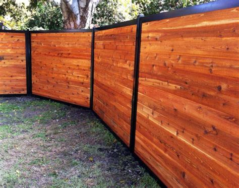 Privacy Fence With Metal Posts & Frame (outlasts Wood