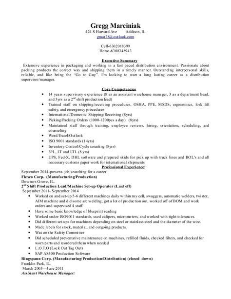 distribution manager resume