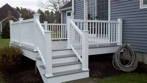 Gray Deck With White Railing