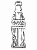 Cola Coca Bottle Colouring Pages Colour Coloring Coloringpage Drinks Check Category Food sketch template