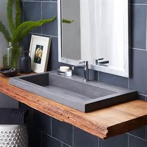 designer bathroom sink trough 3619 nativestone rectangular bathroom sink trails