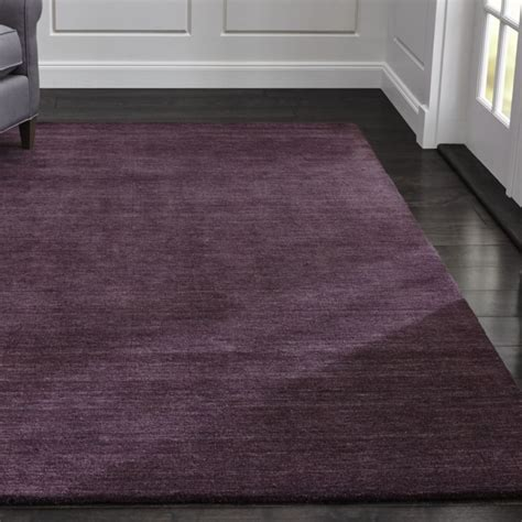 baxter plum purple wool rug crate  barrel