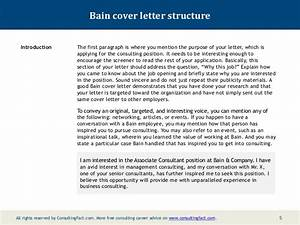 bain cover letter sample With cover letter for bain and company