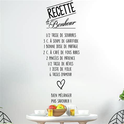 stickers recette de cuisine sticker citation recette du bonheur collection avec